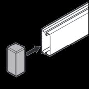 Заглушка 15x10 мм METRA 638105